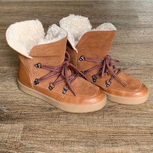 Zara Girls Fleece-Lined Boots